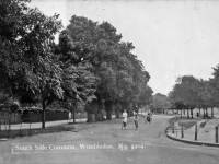 Cycling along Southside, Wimbledon Common