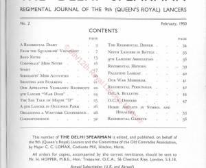 9th Lancers, 1950
