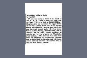 Newspaper Extract - Maurice Knott