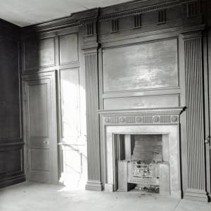 Aramstone House, oak panelled room, 1956