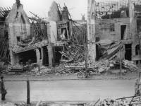 Bomb damaged houses in Pitcairn Road, Mitcham
