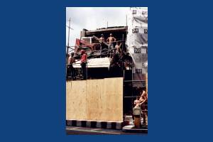 Hartfield Crescent, Wimbledon: Demolition  on the Bridge site