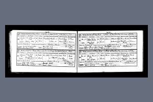 Marriage Certificate - Charles Gibbs and Bessie Gregory