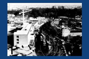 London Road, Morden: Aeriel view from top of Crown House