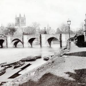 Cathedral, River Wye and bridge