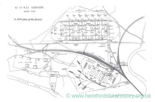 ROF Rotherwas factory plan, 1919
