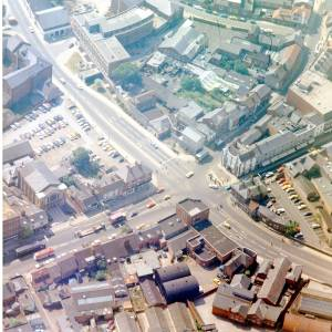 Commercial Junction, Hereford, aerial view, c1976