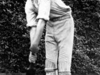 Tom Francis in cricketing pose