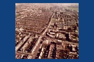 Kingston Road, Merton: Aerial view