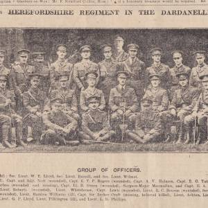1st Herefordshire Regiment, Dardanelles, 1915