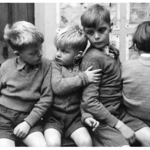 Children at the specialist school for the deaf, Wessington Court, Woolhope (late 1950s).