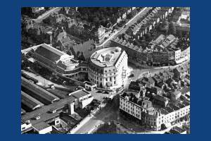 Aerial view of Wimbledon Town Hall