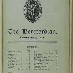 The Herefordian No 68_December 1911