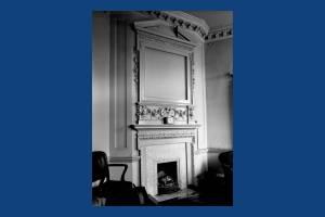 First floor fireplace, Treasurer's Office, Morden Park House, Morden