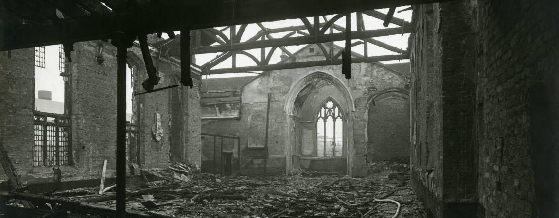 St Mary's Church, bomb damage, Blitz