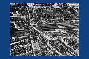 Wimbledon: Aerial View centred on Station