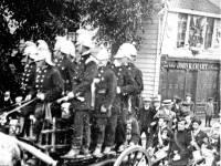 Mitcham Volunter Fire Brigade pictured on Upper Green East