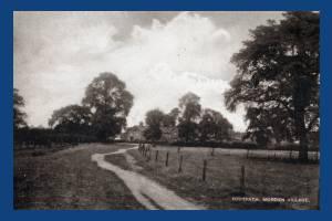 Central Road, Morden: Village footpath