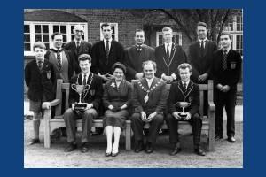 Mitcham County Grammar School for Boys: With Mayor & Mayoress
