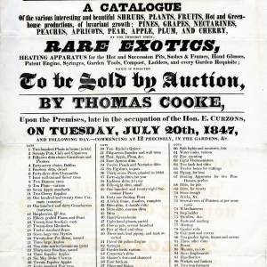 Plant and equipment auction notice, Poole Cottage, Hereford, 20th July, 1847