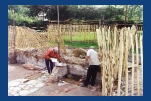 Love Lane, Mitcham, archaeological dig on Glebe lands