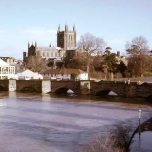 River Wye, Old Bridge, Hereford, 1968