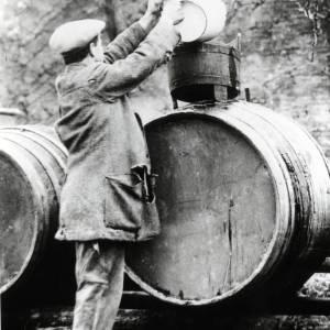 Cider Making, filling the casks