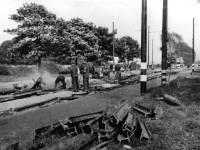 Damage caused by a landmine, Pembroke Road, Mitcham, World War II