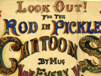 Advert for the cartoons of Mitcham cartoonist Mr.Collingsby aka Mug