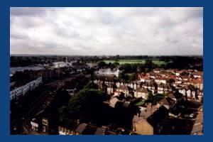 London Road, Morden: Aerial View