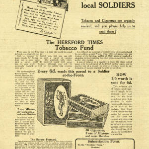 Hereford Times tobacco fund advert