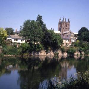 Cathedral and River Wye, Hereford