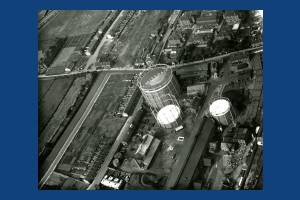 Mitcham Gas Works,  Aerial View