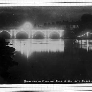 Coronation day, Wye Bridge, Hereford, 22nd June 1911