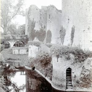 Raglan Castle, citadel & moat