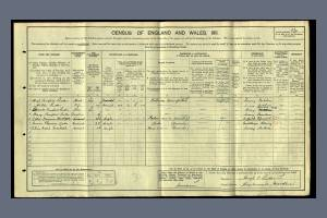 1911 census - Hazelwood House, central Road, Morden