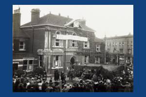 Wimbledon Town Hall: Pictured on Wimbledon Gun Day