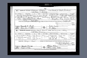 Marriage Certificate - Maurice Knott