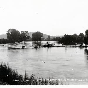 River Wye in flood, view from Castle Green, August 1912