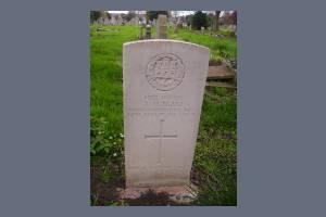 Gravestone of Albert M Blake