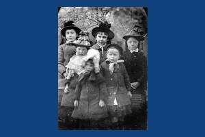 Local children  pictured in Victorian clothing