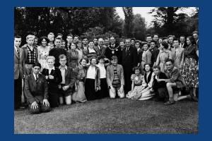 German schoolchildren pictured at Morden Hall