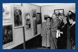 Mayor and Mayoress Opening Art Exhibition