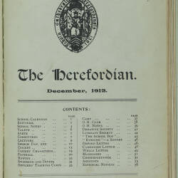 The Herefordian No 71_December 1912
