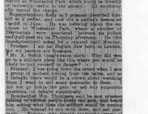 Wigan Newspaper Extracts, 1914-1918