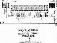 Pelham Elementary School, Wimbledon: Building plans