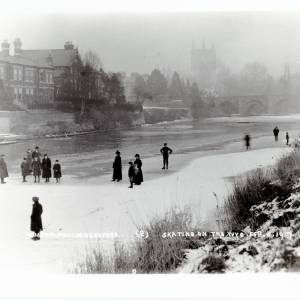 Skating on the Wye, 1917