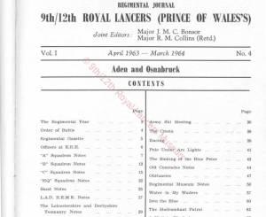 9th-12th Lancers, 1963