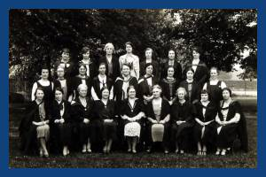 Wimbledon County School for Girls: Miss Borthwick, Staff and Prefects