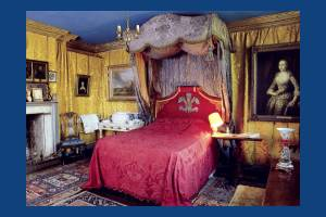 A bedroom at Southside House, Wimbledon